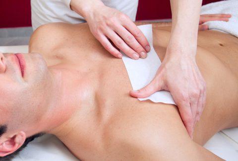 Waxing borstharen